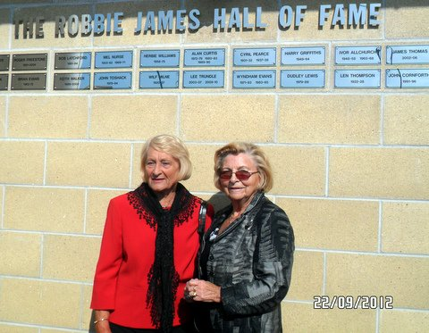 Gwen Griffiths (left) and Esme Allchurch after they had unveiled the Wall of Fame.