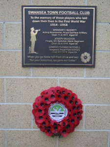 WW1 Memorial Plaque at the Liberty Stadium