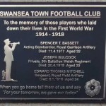 Swans Trust Memorial Plaque WW1