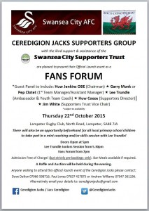 Ceredigion Jacks Official Launch Poster